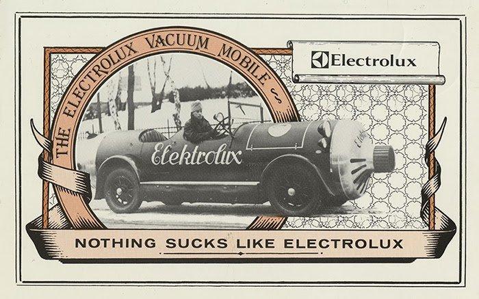 Slogan vintage da Electrolux
