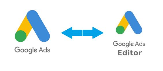 logos do google ads e do editor